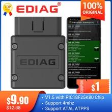 Edag p02 elm327 v1.5 wifi obd2 scanner elm 327 bluetooth pic18f25k80 ferramenta de diagnóstico automático obdii para android/ios/vitórias
