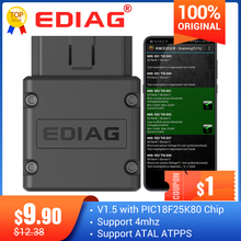 Ediag – outil de Diagnostic automatique pour Android/IOS/Wins, lecteur de code elm327 V1.5, Bluetooth 327, prise OBD2