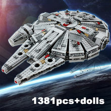 1381pcs Millennium Eclipse Class Sky Falcon Wars TIE Fighter Model Building Blocks Enlighten Figure Toys For Children