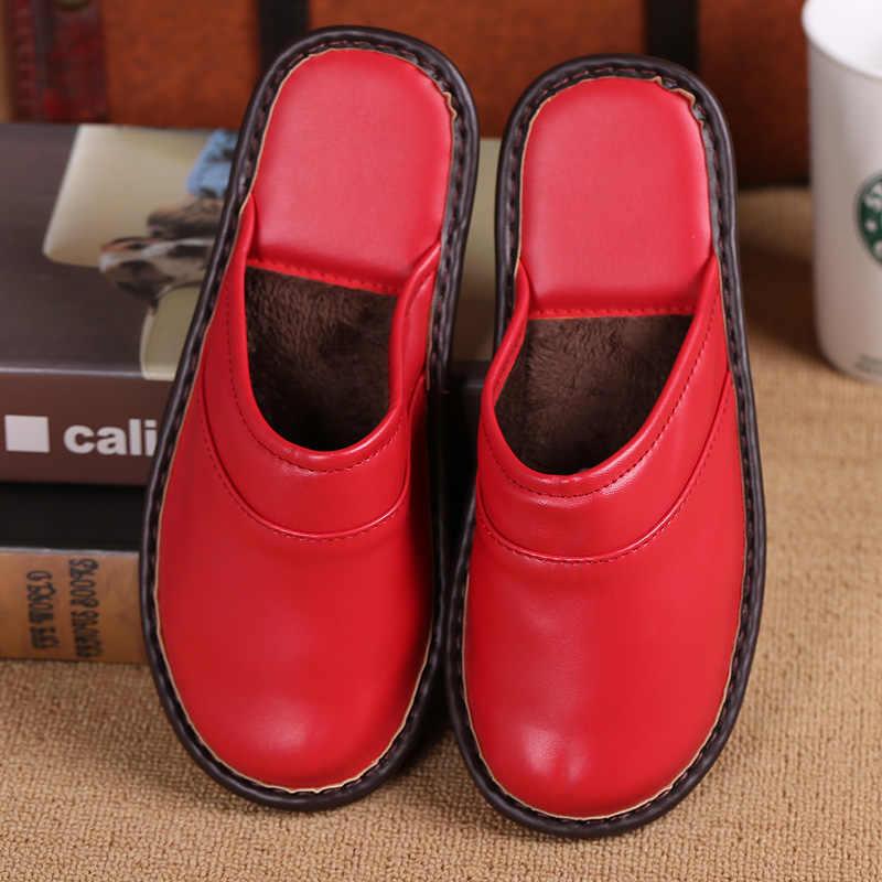 Damyuan yürüyüş ayakkabısı kadın ayakkabısı sığır Tendon taban çift yüksek kaliteli terlik sıcak ve rahat erkek ev terlik