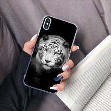 Silicone Cover Luxury Phone Case For Iphone Xr X Xs Max 8 7 Plus Tiger Animals Man Soft Tpu