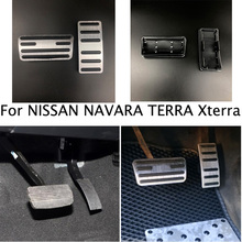 Car Styling Pedal Fuel Gas Brake Pedals Pad For NISSAN NAVARA TERRA Xterra FRONTIER PATROL PALADIN Pathfinder CEFIRO X TRAIL