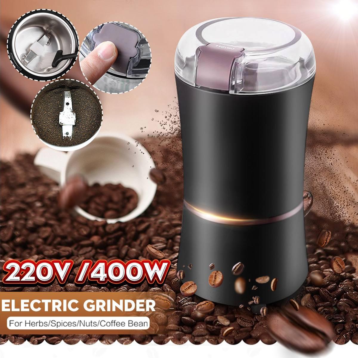 Leistungsstarke 220V 400W Elektrische Kaffeemühle Maschine Bean Mixer Für Home Küche Büro Heimgebrauch Kaffee Maker/ gewürze/Mutter/Samen