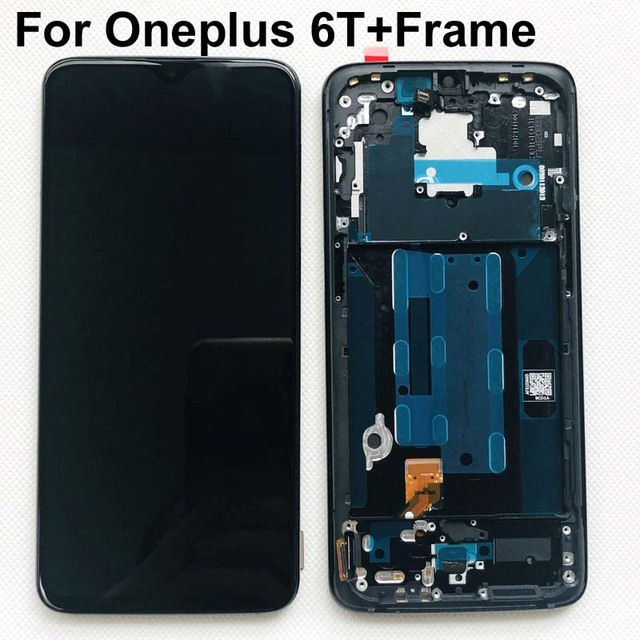 AAA Original AMOLED LCD Display For Oneplus 6T A6010 A6013 touch screen Digitizer Assembly 6.41 inch With Frame+gifts