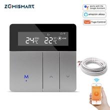ترموستات واي فاي من Zemismart Tuya لسخان كهربائي يعمل على تسخين أرضية مشع للماء من Alexa Google Home يمكن التحكم في درجة الحرارة