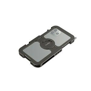 Image 2 - قفص هاتف محمول صغير احترافي لهاتف iPhone 11 Pro Max قفص واقي مُناسب حسب الطلب مع 1/4 بوصة 20 فتحة ملولبة/حامل أحذية بارد 2512