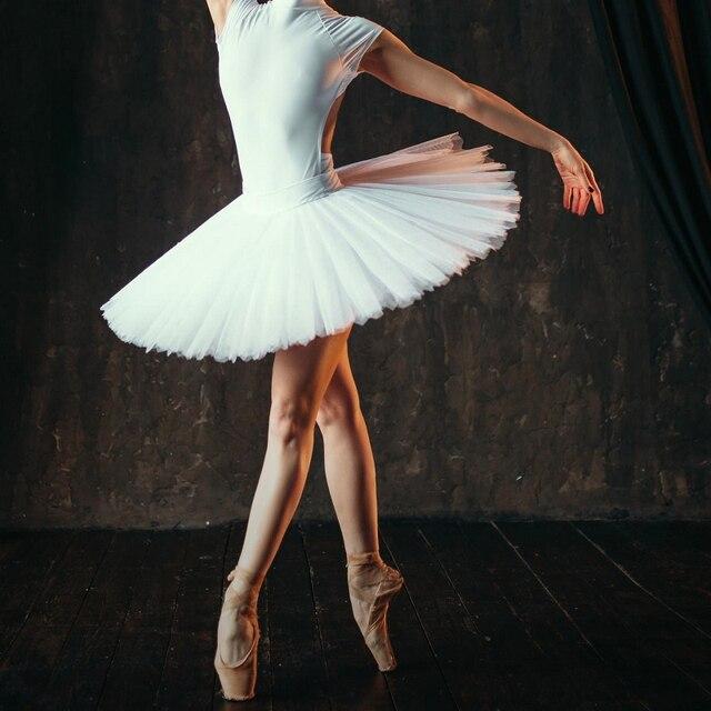 Professional Ballet Swan Lake Tutu White Black Elastic Waist Adults Ballerina 5 Layers Hard Mesh Tulle Skirt Tutus With Briefs