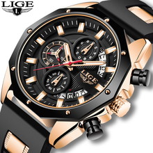 2020 LIGE New Sport Mens Watches Top Luxury Brand Watch For Men Silicone Wristwatch Waterproof Quartz Clock Relogio Masculino