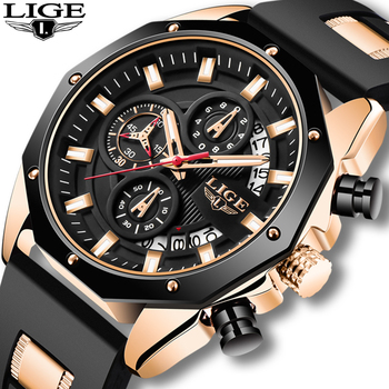 2020 LIGE New Sport Mens Watches Top Luxury Brand Watch For Men Silicone Wristwatch Waterproof Quartz Clock Relogio Masculino mens watches top brand luxury gold blue men watch quartz sport watch male clock man military waterproof wristwatch relogio