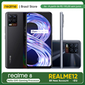 Realme 8 6 ГБ 128 ГБ глобальная версия-30W зарядное устройство Helio G95 6,4