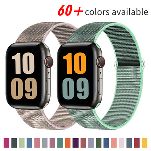Nylon Strap for Apple watch Band 38mm 42mm Sport loop belt wristband bracelet for iWatch band series 6 5 4 3 2 SE 40mm 44mm