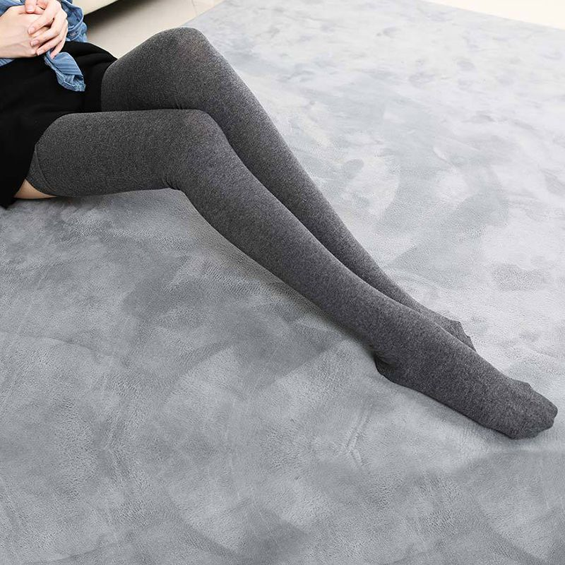 80-91cm Women Warm Long Socks Solid Over The Knee Ladies Socks Autumn Winter Casual Fashion Cotton Stocks