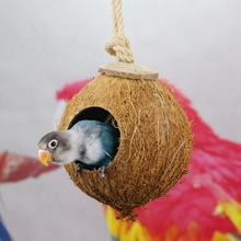 Pet-Sleeping-Supplies Bird Nests Pet-Parrot-Cages Coconut-Shell Hanging Parakeet Home-Decor