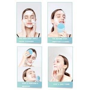 Image 5 - Pulizia del viso Spazzola Sonico di Vibrazione Viso Cleaner Silicone Profonda Pulizia Dei Pori Elettrico Massager Impermeabile Morbido Viso pennello