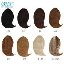 Bhf клип в человеческие волосы с челкой remy волосы части невидимые 20 г 8 дюймов-12 дюймов длинные Замена Парик