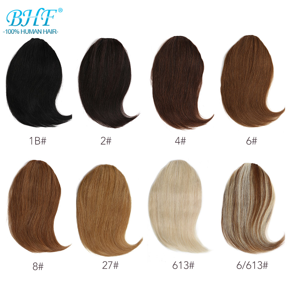 BHF Clip In Bangs Human Hair Remy Hair Pieces Invisible 20g 8inch-12inch Long Replacement Hair Wig