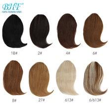 BHF – perruque de cheveux naturels Remy avec frange à Clip, 20g, 8 à 12 pouces, longue perruque de remplacement