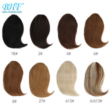 Hair-Wig Pieces Remy-Hair Clip-In-Bangs Long BHF Replacement 8inch-12inch 20g Invisible