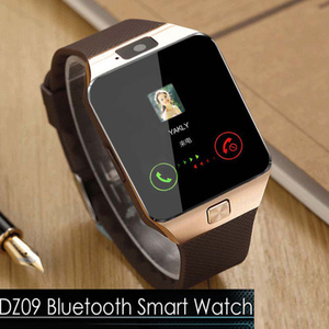 Mens Bluetooth Connect Smart Watch DZ09 Smartwatch Activity Tracker Clock Pedometer TF SIM Camera For IOS Android Phone