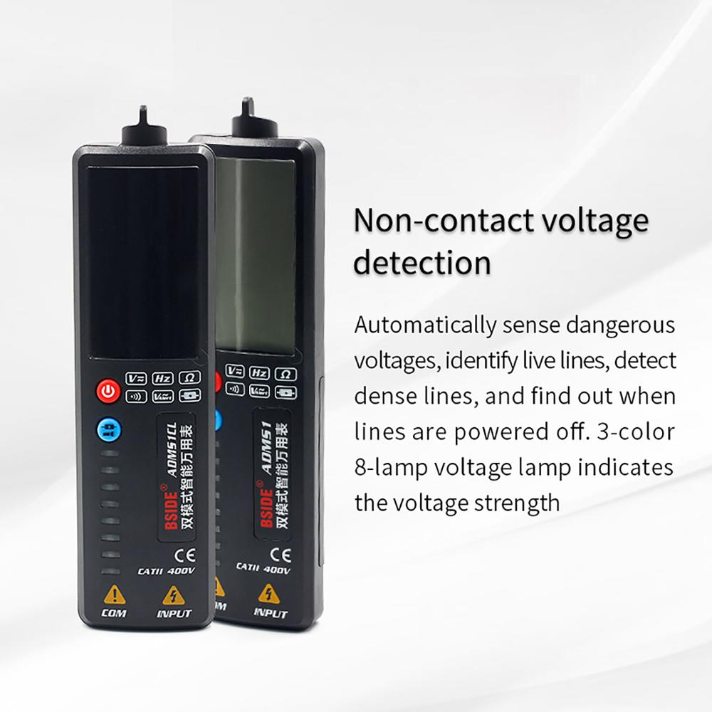 DiscountσTester Voltmeter ADMS1 BSIDE DMM Ohm-Hz AC Continuity 3-In-1 DC