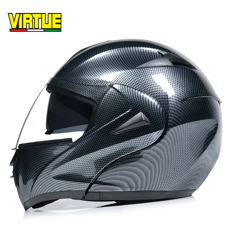 High Quality casco capacetes motorcycle helmet Dual Visor Modular Flip Up motocross helmet DOT approved-in Helmets from Automobiles & Motorcycles    1