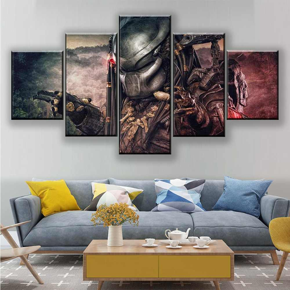 5pcs Canvas Print Painting Picture Home Living Room Decor Wall Art Poster Coffee