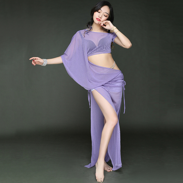 NEW belly dance suit yar short sleeves belly dance clothes long dress women dance dance costumes 1