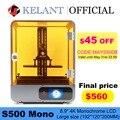 3D-принтер SLA KELANT S500 Mono, 8,9 дюйма, 4K, монохромный, с ЖК-дисплеем, большой размер печати 192*120*200 мм, УФ-полимер, 3D-принтеры, принтер, набор «сделай са...