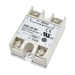 DC-AC 24V-380V 40A 250V SSR-40DA Solid State Relay Switch 3-32V DC To AC SSR 40DA