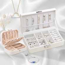 Fashion Jewelry Storage Box Girl Earrings Necklace Rings Display Collection Cosmetic Women's Travel