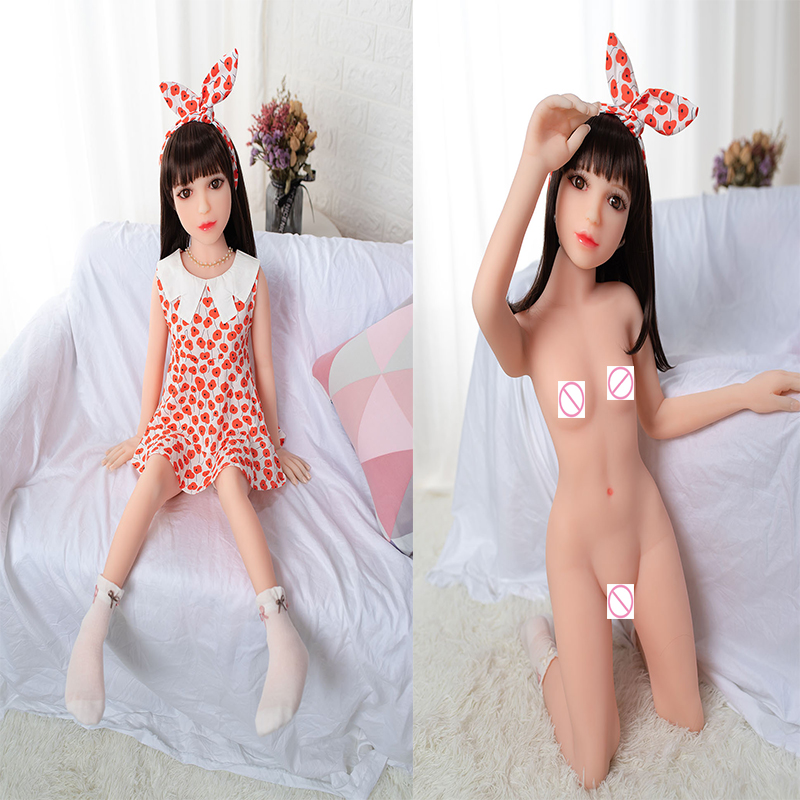 100cm Sex Doll Mini Silicone Sex Dolls TPE Love Doll Life Size Adult Real Flat Chest Sex Doll Realistic Lifelike Toys