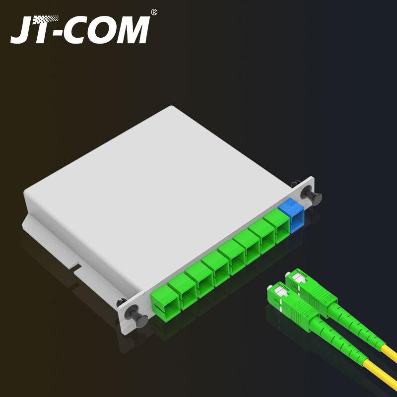 10PCS/lot SC APC 1x4 PLC Cassette Insertion Type Fiber Optic Splitter 1x8 1x16 SC UPC Fiber Optical Box FTTH PLC Splitter box