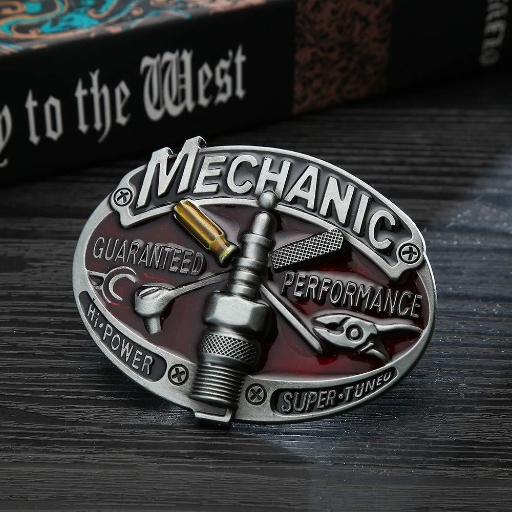 Mechanic Tool  Belt  Buckle For Man Western Cowboy Buckle Without Belt Custom Alloy Width 4cm