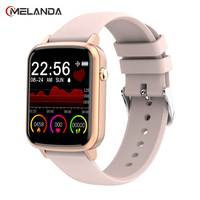 MELANDA de lujo 2021 reloj inteligente mujer impermeable Smartwatch con Monitor de ritmo cardíaco reloj de Fitness para mujeres, reloj inteligente