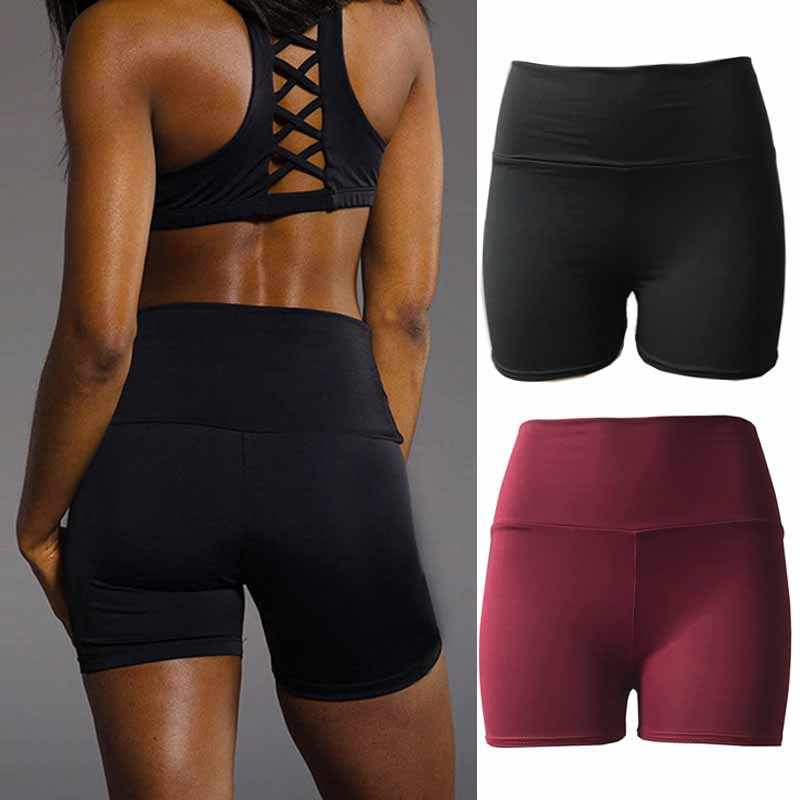 Sexy Hoge Taille Ademend Shorts Vrouwen Sport Wear Workout Athletic Gym Fitness Yoga Korte Broek Leggings Shorts