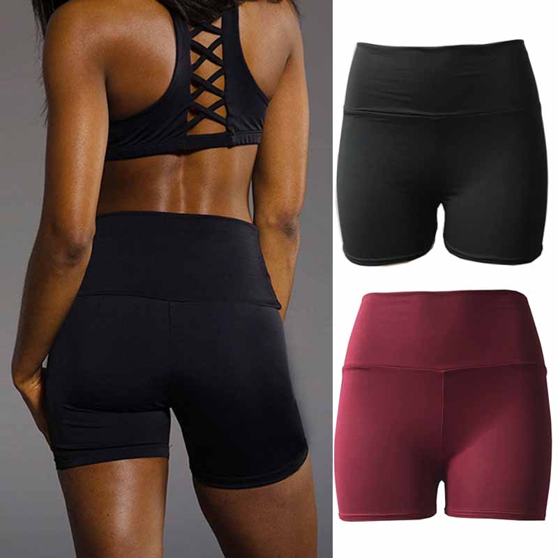 Sexy High Waist Breathable Shorts Women's Sports Wear Workout Athletic Gym Fitness Yoga Short Pants Leggings Shorts