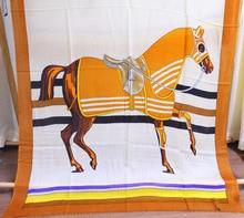 Horse Scarf Women Pure Cashmere Soft Winter Brand Design Female Shawls Wraps Lady Girl Pashmina200*100cm