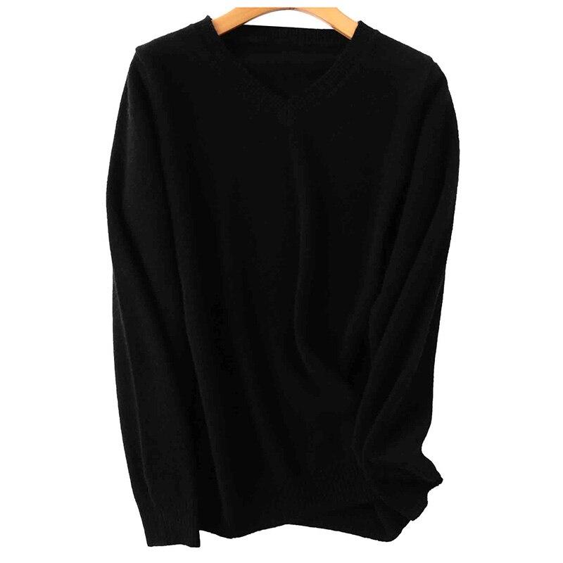 100% Merino Wool Women V-Neck Sweater 2020 Autumn Winter Warm Soft knitted Pullover Femme Jumper Women Cashmere Sweater 9