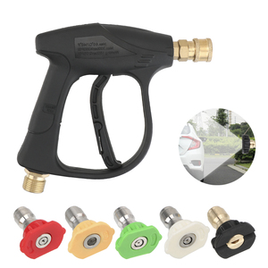 """Image 1 - LEEPEE Snow Foam Gun 14mm M22 Socket 1/4"""" Quick Release Car Washer Car High Pressure Water Gun with 5pcs Soap Spray Nozzles"""