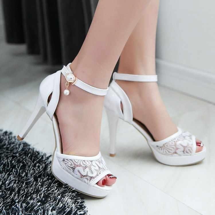 Ponadgabarytowe buty 9 10-15 damskie letnie sandały na platformie damskie buty kobieta pysk ryby jest pokryty siatką