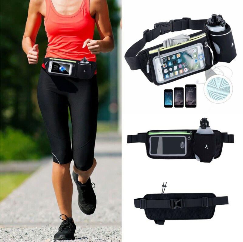 Hot Sale Waterproof Sport Runner Waist Bum Bag Running Jogging Belt Pouch Zip Fanny Pack