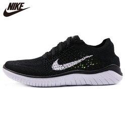 Originl Nike Free RN Flyknit Womens Running Shoes Mesh Cushion Damping Sneakers Durable 942839-001