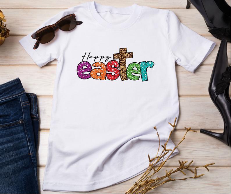 Счастливый День Пасхи для женщин подарок футболка Забавный Графический женские туфли в Корейском стиле модная повседневная рубашка хлопок...