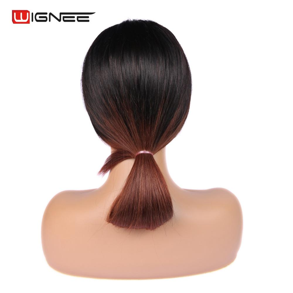 Wignee 4 4 Lace Closure Human Hair Wigs For Black White Women Straight Hair Ombre Brown 1B 33 Remy Brazilian 100 Lace Human Wig in Lace Closures Frontals from Hair Extensions Wigs
