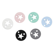 6 Candy Colour Fashion Jewelry Findings Hollow Star Small Charms Pendant For DIY Necklace & Bracelet Earrings(China)