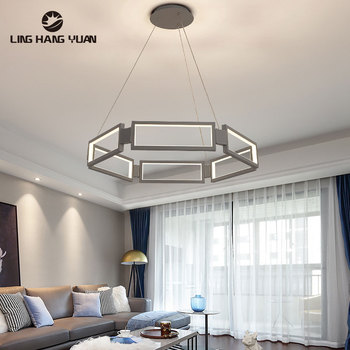 Minimalist Modern LED Pendant Light Gold Black Gray Hanging Lamp Ceiling for Living room Dining Kitchen Lights