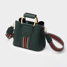 Bolsa de couro pu de ombro feminina, crossbody, bolsa de mensageiro, aro superior, bolsa de mão, colorida, balde saco do saco