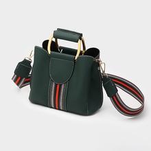 Crossbody Bags for Women 2020 PU Leather Messenger Shoulder Bags lady Hoop Top handle Bag Hand Bags Colorful Bucket Bag