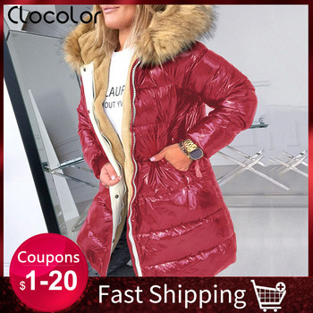 2019 Thick Warm Down Jacket Women Winter Coat Plus Size Women's Clothes Parka Hood Fur Collar Black Coats Padded Jackets Outwear maternity winter jacket women new 2018 coats female parka black thick cotton padded lining clothes pregnant woman outwear