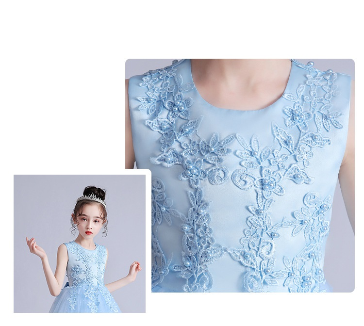Vestido Infantil Kids Summer Princess Dress Girls Performance Costumes Children Birthday Party School Party Dresses 3-12yrs wear 6
